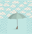 umbrella over rain cloudy sky clouds pattern fall vector image vector image