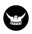 viking helmet icon vector image