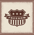 vintage freedom label vector image