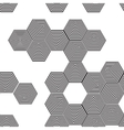 Volumetric 3D pyramid seamless pattern hexagon vector image