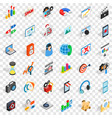 web development icons set isometric style vector image vector image