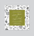 wedding invitation floral card seamless background vector image vector image
