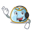 with headphone baby bib isolated on the mascot vector image