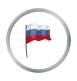 Russian flag icon in cartoon style isolated on vector image