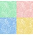 Set of autumnal seamless card vector image