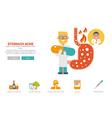 Stomache ache website concept vector image