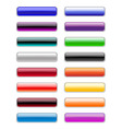 rectangle buttons vector image