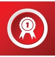 1st prize icon on red vector image vector image