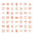 49 display icons vector image vector image