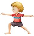 A young gentleman doing yoga vector image vector image