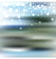 abstract blur bokeh winter background with vector image