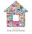 all for the house vector image vector image