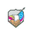 American Bald Eagle Flag Spear Retro vector image vector image
