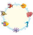 an underwater creature border vector image