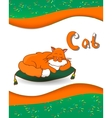 Animal alphabet letter C and cat vector image vector image