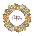 autumn thanksgiving harvest decorative frame vector image vector image