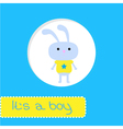 Baby shower card with bunny Its a boy vector image