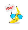 banana face cartoon vector image vector image