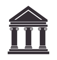 bank building structure vector image vector image