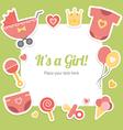 bashower for girl vector image vector image