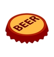 Beer bottle cap icon isometric 3d style vector image vector image
