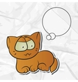 Cartoon cat Paper Background vector image vector image