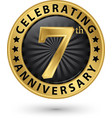celebrating 7th years anniversary gold label