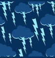cloud and lightning pattern seamless thunderstorm vector image vector image