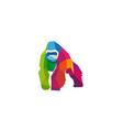 creative colorful gorilla logo vector image