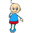 cute little boy cartoon vector image vector image