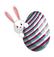 egg easter day vector image