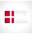 envelope with danish flag card vector image vector image