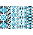 Ethnic embroidery ornaments seamless pattern vector image vector image