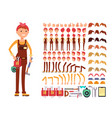 female technician cartoon character woman vector image vector image