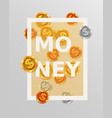 finance design elements background with coins vector image