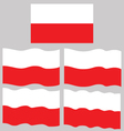 Flat and Waving Flag of Poland vector image vector image