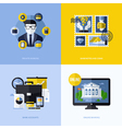 Flat design with banking symbols and icons vector image vector image