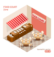 Food court zone vector image vector image