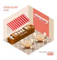 Food court zone vector image