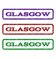 glasgow watermark stamp vector image