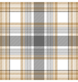 Gold platinum checkered plaid seamless pattern vector image vector image