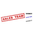 grunge sales team textured rectangle watermarks vector image vector image