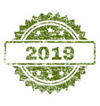 grunge textured 2019 stamp seal vector image vector image
