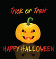 Halloween trick or treat background vector image vector image