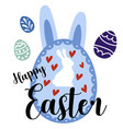 happy easter decoration for card design vector image vector image
