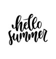 hello summer hand drawn lettering isolated on vector image