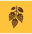 Hops icon Beer and hop Hops symbol UI Web vector image