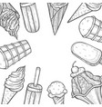ice cream popsicle shop vector image vector image