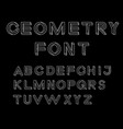 Impossible geometry letters impossible shape font vector image