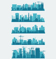 industrial city skyline sets vector image